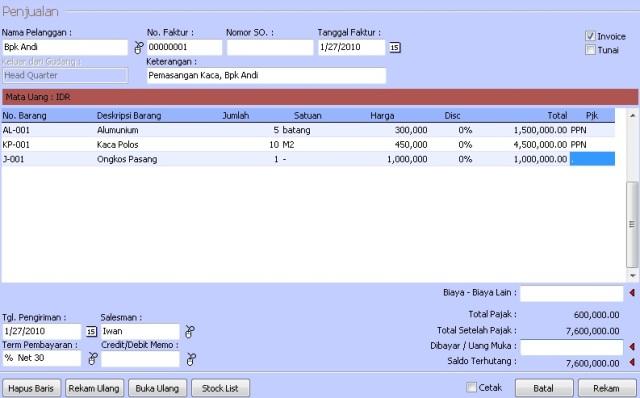 Barang Jasa Dalam Invoice YudhinZahir Blog - Invoice jasa